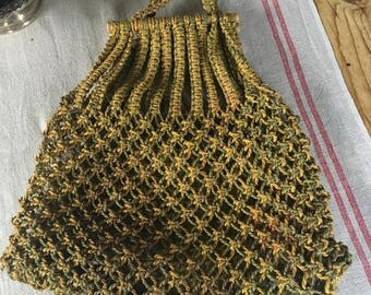 Vintage jute shopping bag