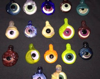 Handblown Glass Eye Pendants