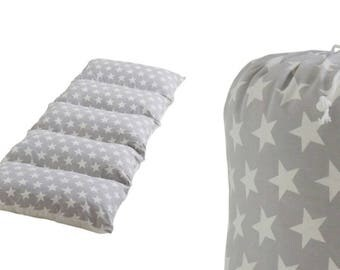 Pillow bed grey star