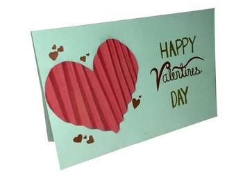 Custom Valentines Day Card **3-D Heart**