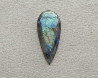 Natural Labradorite Pear Gemstone, Labradorite 01 Pieces Gemstones 56 Carat Weight, Size - 48x23x9 MM Approx. Labradorite Pendant Stone.