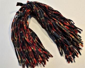 "Plaid Vintage Wool Strips Red Gray Beige Coloring 100 Strips on #6 Blade Cut Rug Hooking Supply 18"" Long"
