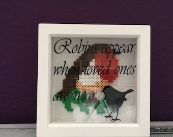 Robins apear when loved ones are near | robin picture frame