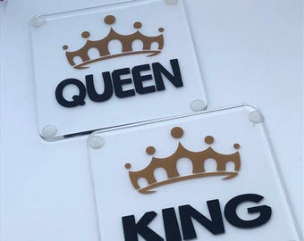 King and Queen coasters