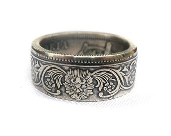 Rupee Coin Ring - India 1862 - 1901 One Rupee Coin - Silver coin ring - Handcrafted rings