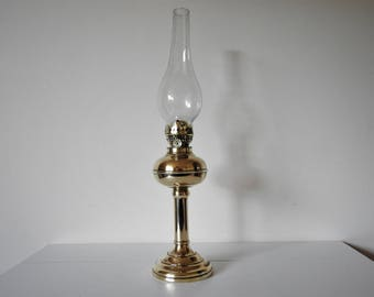 Vintage Brass Oil Lamp - Extendable With Chimney