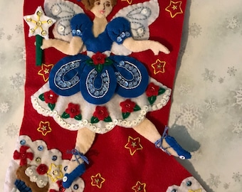 Personalized Bucilla Fairy Christmas Stocking
