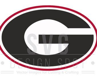 University of Georgia Logo SVG, UGA Bulldogs Wall Art, University of Georgia Logo for Cricut Silhouette Cameo, Design Files  Eps Svg Dxf Png