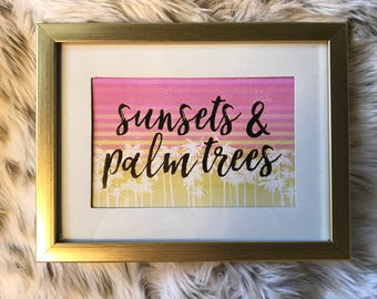 Frame: Sunsets and Palm Trees
