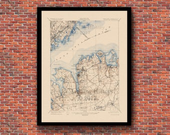 Oyster Bay, NY Restored Vintage Map