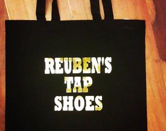 Personalised dance bag, tap shoe bag, ballet Bag, Gift under 10, personalised Bag, Gift Bag, Shopping Bag, bag for tap shoes, dance bag