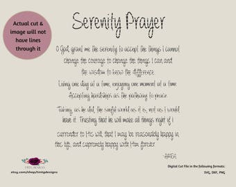Serenity prayer SVG, Family Prayer SVG,  svg, DFX, cricut download, Files for silhouette, cricut explorer