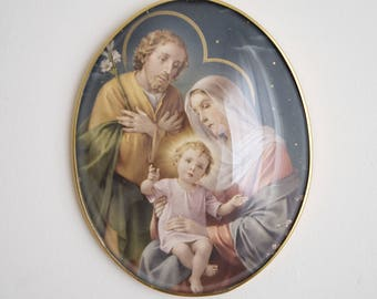 "Oval frame, curved glass. ""jésus"""