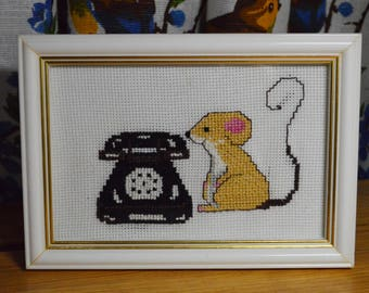 """Embroidery """"When he calls?"""""""