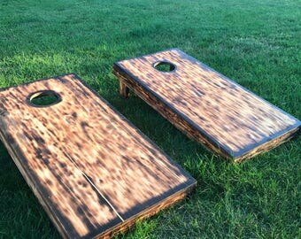 Wood Burned Corn Hole Boards