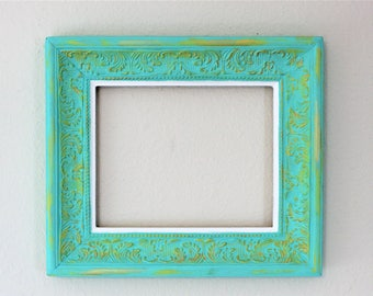 Mint and Gold Open Frame