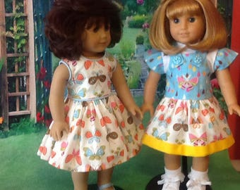 """18""""Doll Dress and  Coordinating Jumper Outfit"""