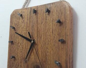 Hand made wooden wall clock