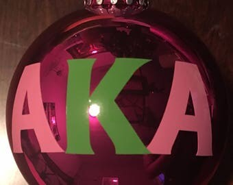 AKA Alpha Kappa Alpha Glass Ornament
