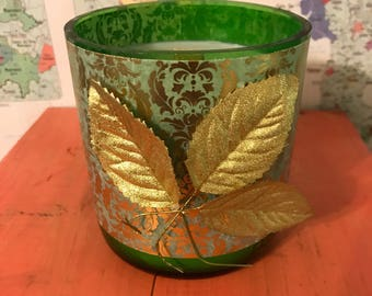 Golden Leaves Hand-Poured Soy Candle