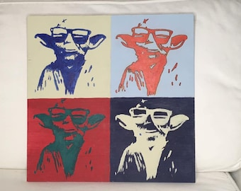 YODA 4 color Andy Warhol