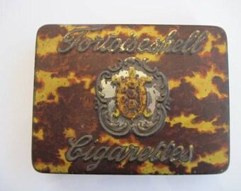 Tortoiseshell cigarette tin (25) by W A & A C Churchman's c.1920