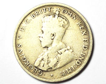 1918 M Australia Florin Two Shillings Silver Coin Rare KM27