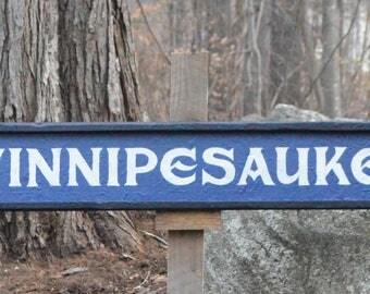Lake Winnipesaukee Sign | Rustic Wood Sign | NH Lakes | Rustic Hand Painted | Winni Made