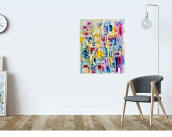 Original abstract painting. Wall art