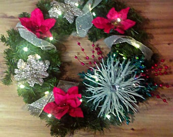 Lighted Christmas Wreath *PINK