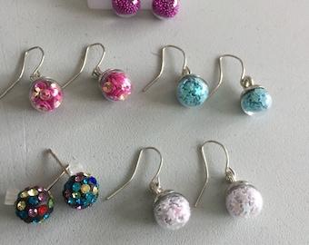 Beautiful  colored  earrings