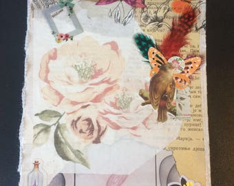 Handmade notebook scrapbook,  junk journal