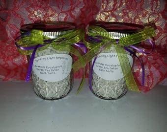 Lavender Eucalyptus Green Tea Detox Bath Salts