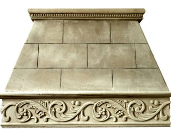 "Cast Stone Kitchen Vent Hood/Range Hood 42"" w x 30"" h (fits 8-foot ceiling) Kitchen Exhaust VERONA"