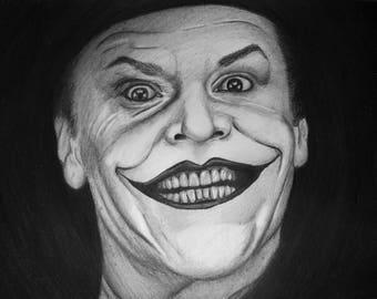 Joker  A4 Original Pencil Drawing