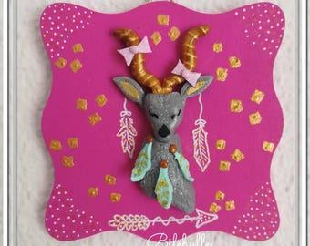 Decorative frame deer Bohemian