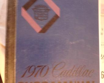 original dealers 1970 cadillac shop manual-VG