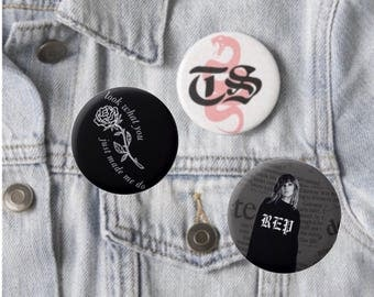 Taylor Swift Reputation button pin pack