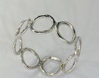 Sterling silver thumb ring with circles
