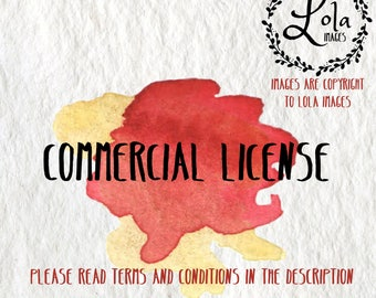 COMMERCIAL LICENSE (valid for only ONE of our clip art sets)