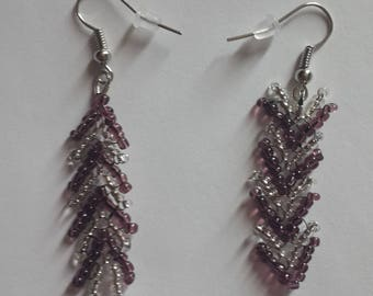 Mismatched  Earrings-Handmade-Unique-Great Gift for Her-Anniversary Gift-Beaded Earrings-Bridesmaid Gift-Chevron Earrings