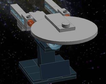 USS Enterprise C - Lego Star Trek - Instructions/Parts List - Files Only