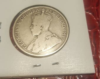 1913    Canada 50 cents silver Half Dollar