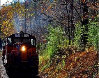Fine Art Photography , Train Photography , Train Print, Train Wall Art, Portrait (Vertical)