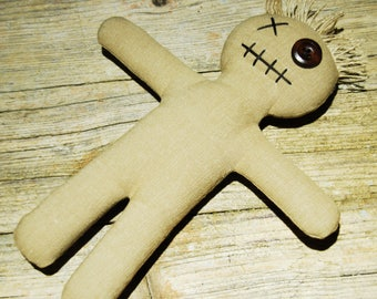 Mojo Doll Raw-voodoo doll with needle and ritual instructions