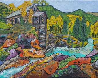 """Giclee Print on Canvas """"The Mill"""""""