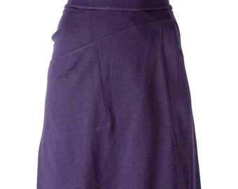 Azzedine Alaia Purple Skater Skirt 1980s