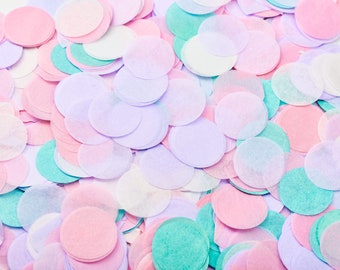 Confetti Wedding, table confetti made of silk paper [pink, lilac, white, turquoise]