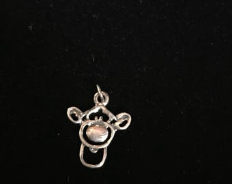Tigger from Winnie the Pooh silvertone face charm