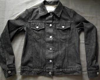 EAT THE RICH on Vintage Helmut Lang denim Jacket from 90s
